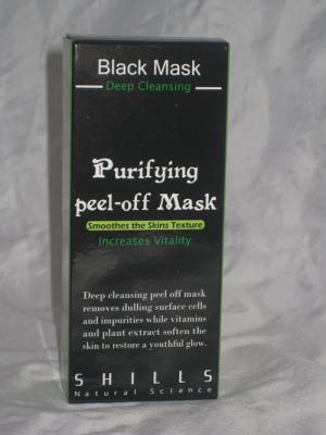 Обзор очищающей пилинг-маски для лица Black Mask от компании Shills